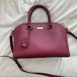 Kate Spade Tilden Place Pippa Satchel in Berry